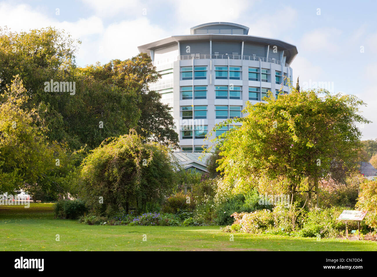 Christchurch Womens Hospital as it overlooks Hagley Park, Christchurch, New Zealand. - Stock Image