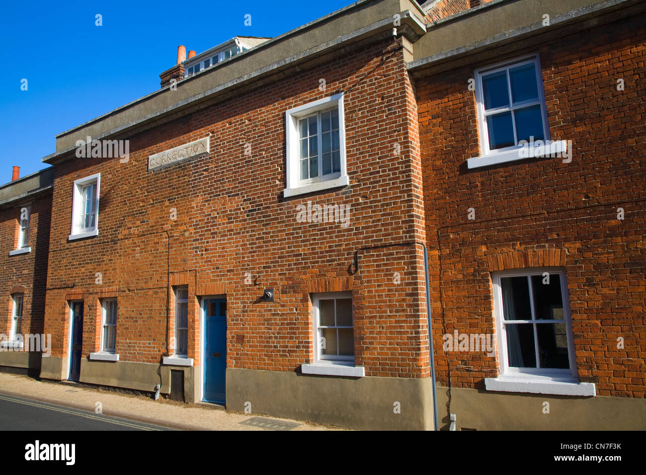 House of Correction early nineteenth century prison building, Woodbridge, Suffolk, England - Stock Image