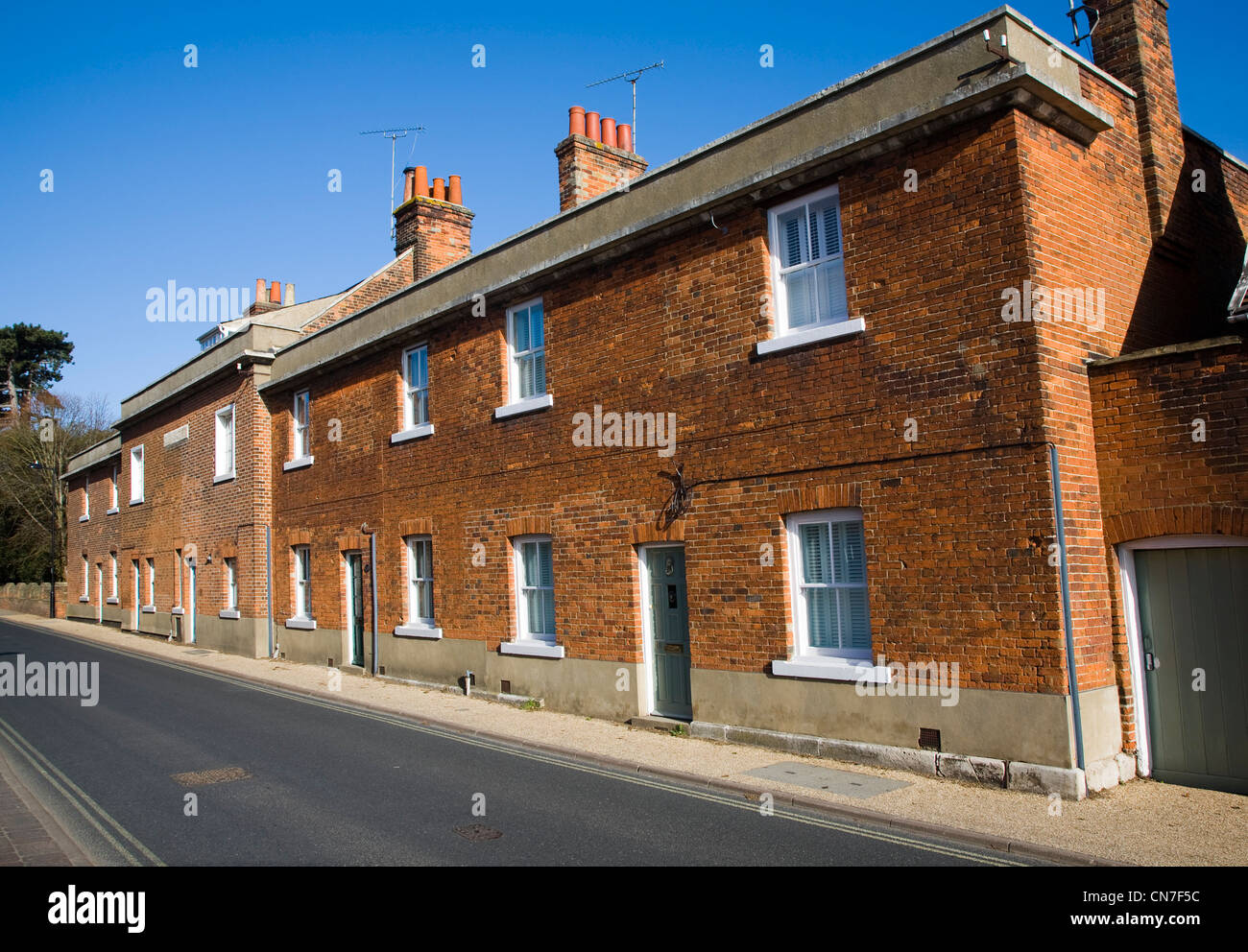 House of Correction early nineteenth century prison building, Woodbridge, Suffolk, England - Stock Image