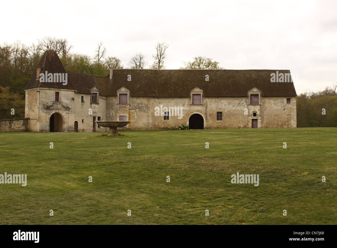 Gate house or Stables at Château of Rochefoucauld - Stock Image