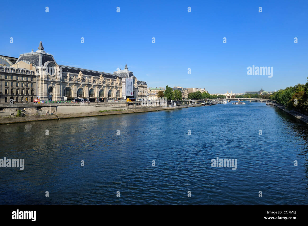 France, Paris, Left Bank, Orsay Museum, housed in the Gare d'Orsay, former railway station (1898) - Stock Image