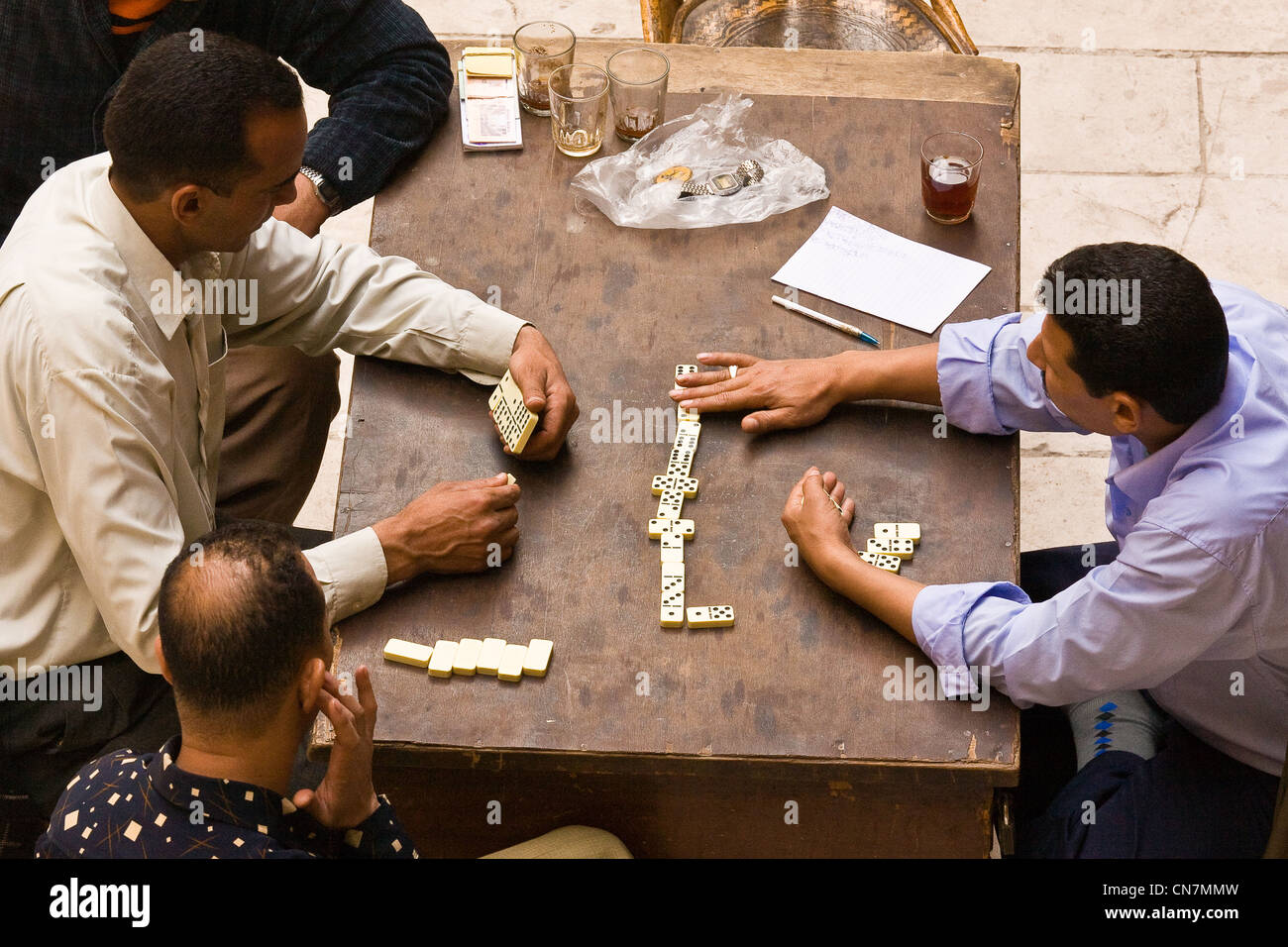 Egypt, Cairo, dominoes players - Stock Image