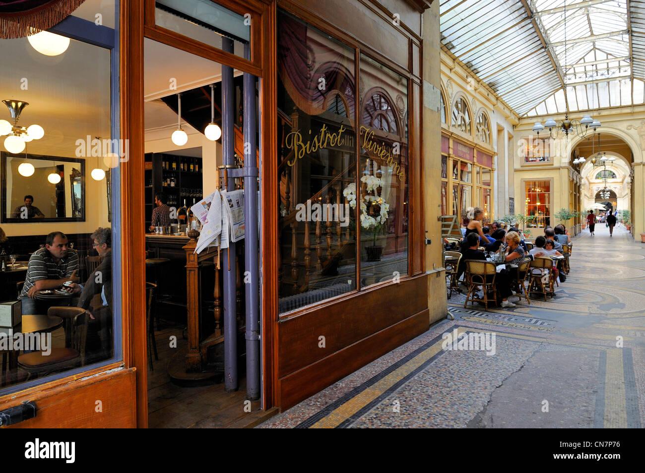 France, Paris, Galerie Vivienne, the Bistrot Vivienne - Stock Image