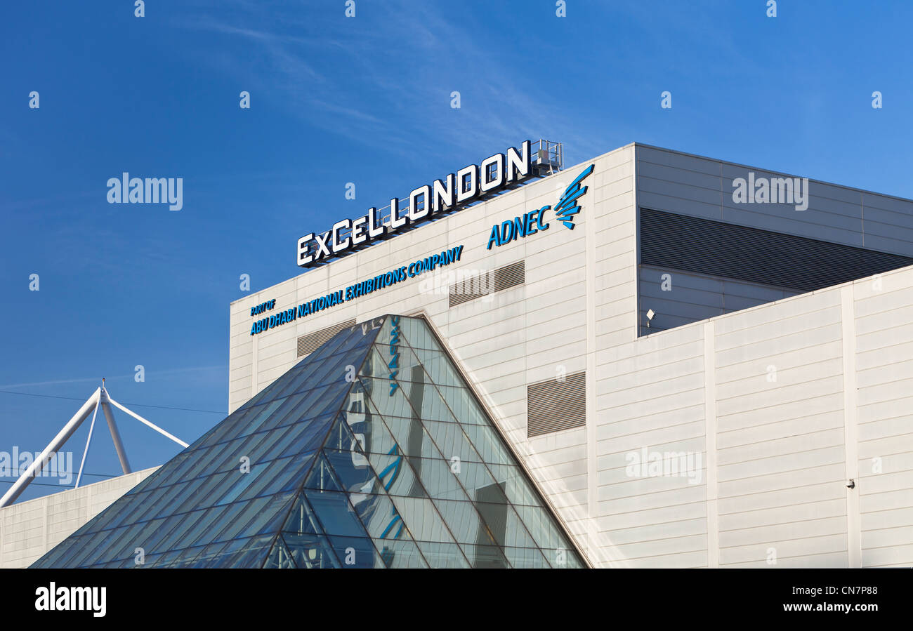 ExCeL centre, London Docklands, England - Stock Image