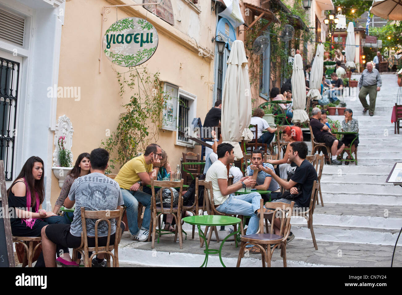 Greece, Athens, the touristic district of Plaka - Stock Image