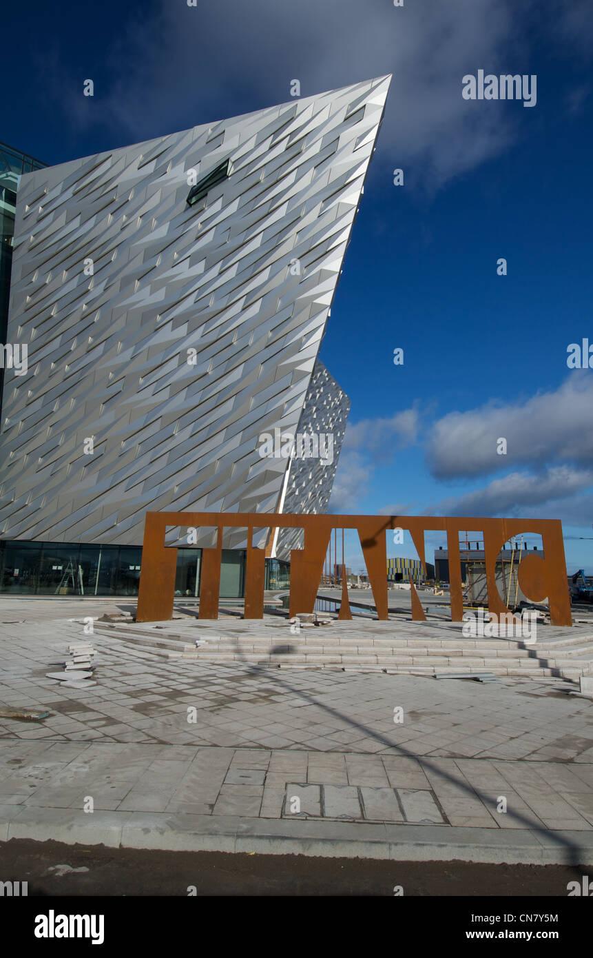 Titanic Signature Building Stock Photo