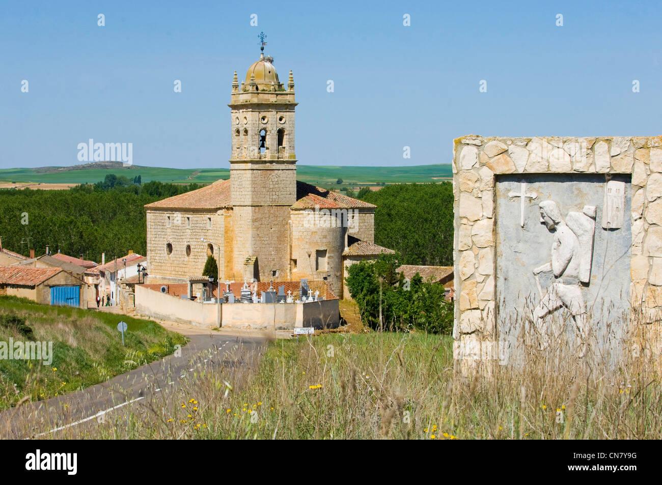 Spain, Castile and Leon, Itero del Castillo, entrance of the village - Stock Image