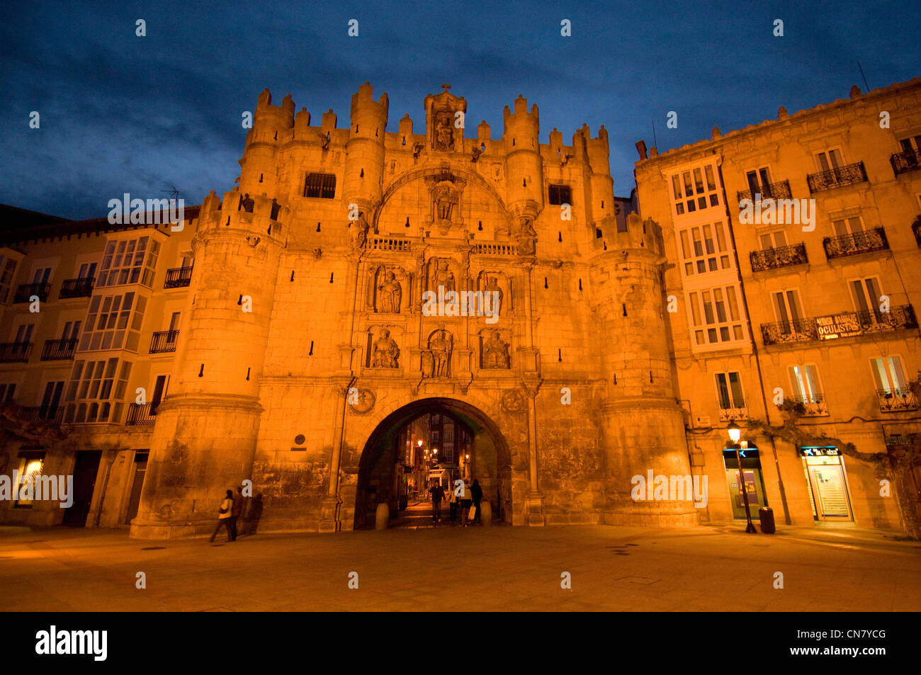 Spain, Castile and Leon, Burgos, Gate Santa Maria, dated 14-15th centuries - Stock Image