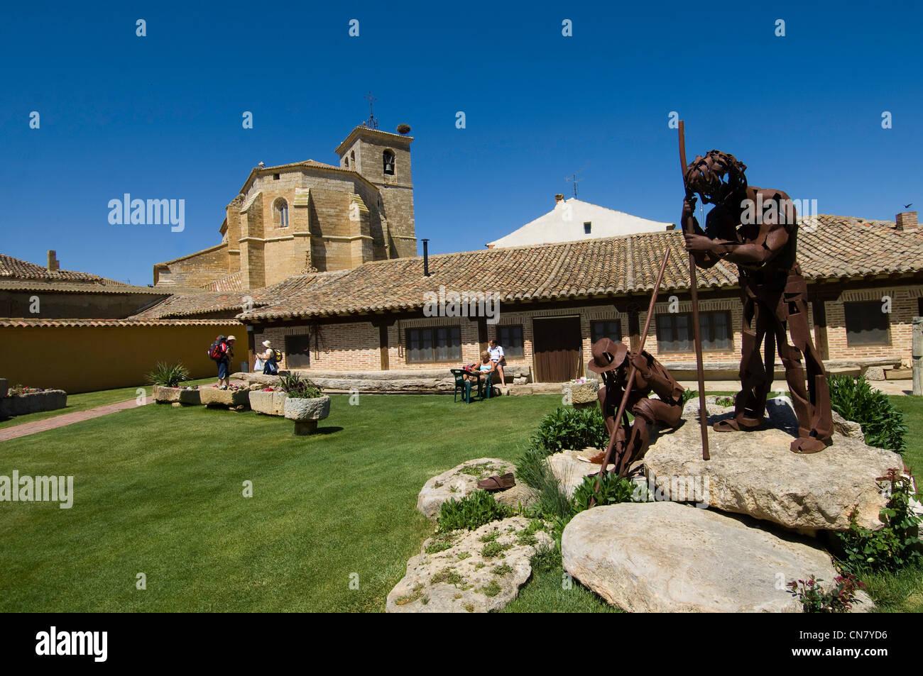 Spain, Castile and Leon, Boadilla del Camino, stop on El Camino de Santiago - Stock Image