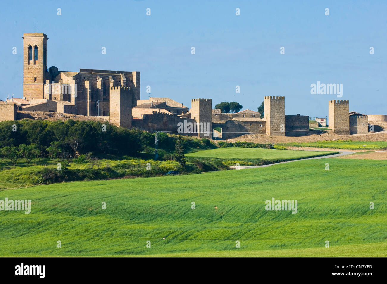 Spain, Navarra, Artajona, the fortress, dated 11th century - Stock Image