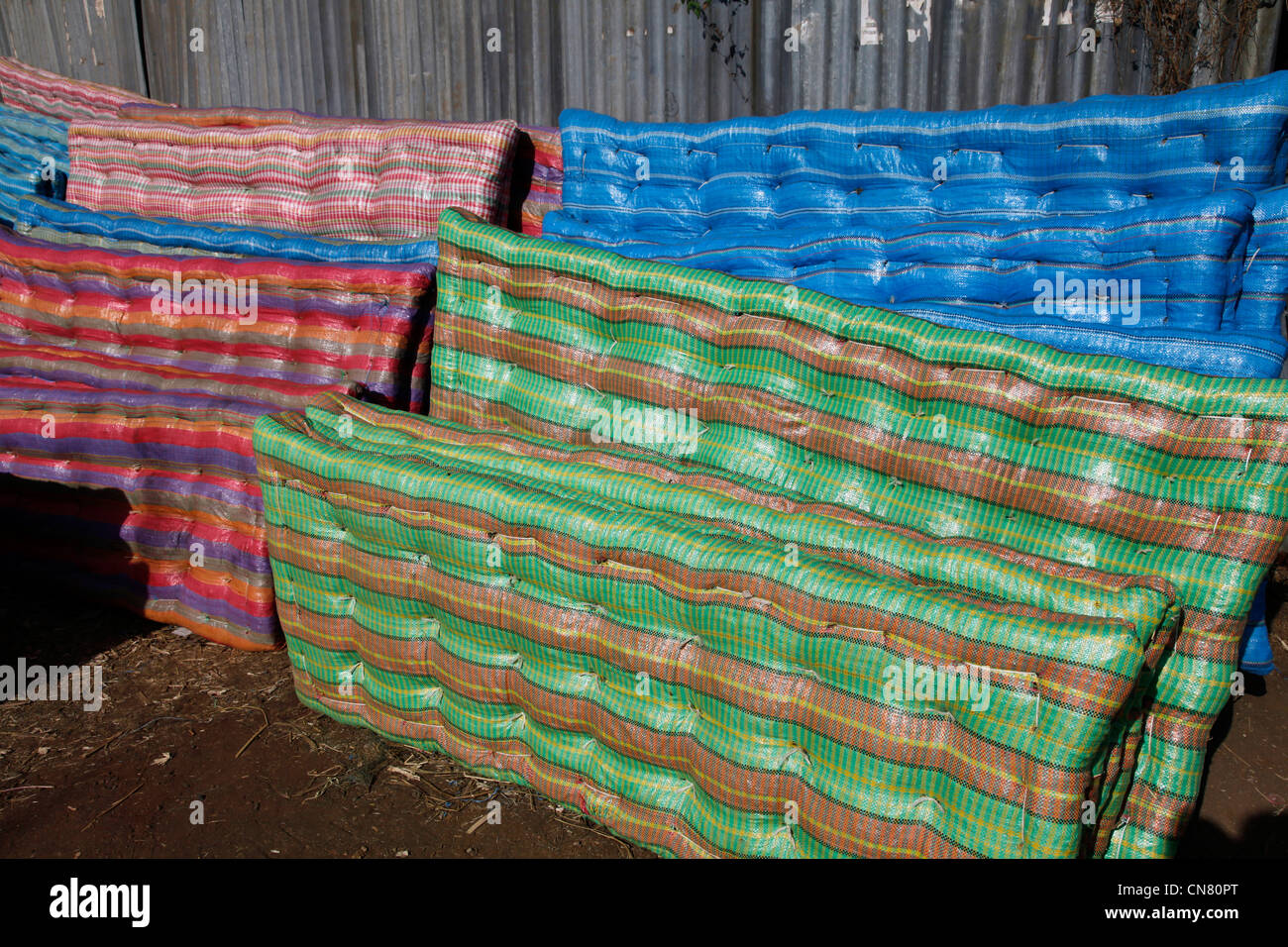 Mattresses for sale at the market in Bahir Dar, Ethiopia - Stock Image