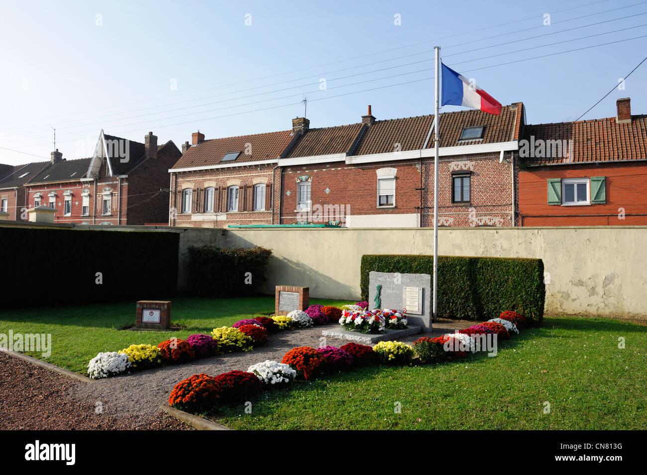France, Pas de Calais , Vermelles, Memorial cemetery - Stock Image