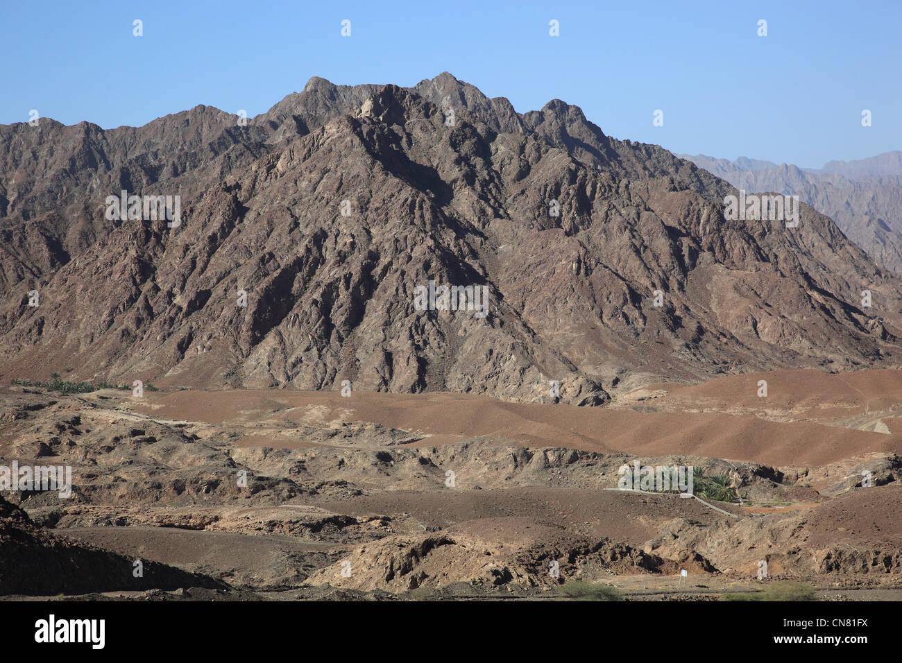 Landschaft am Jebel Shams, Oman Stock Photo