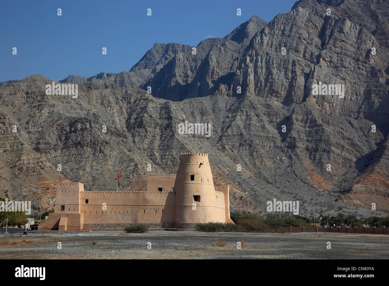 Al Qala Fort, Bukha, Bucha, in der omanischen Enklave Musandam, Oman Stock Photo