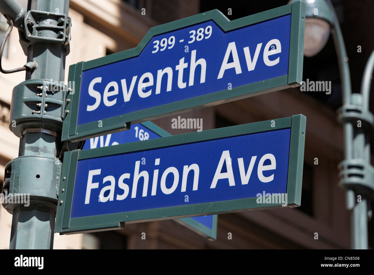 United States, New York City, Manhattan, 7th Avenue indication sign - Stock Image