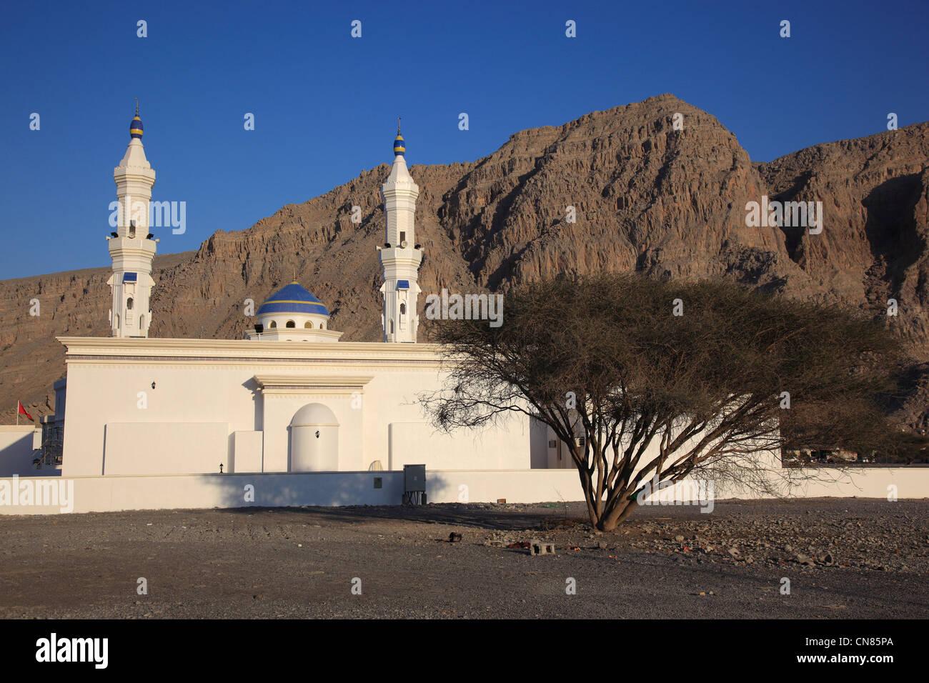 Moschee in al-Chasab, Khasab, in der omanischen Enklave Musandam, Oman - Stock Image