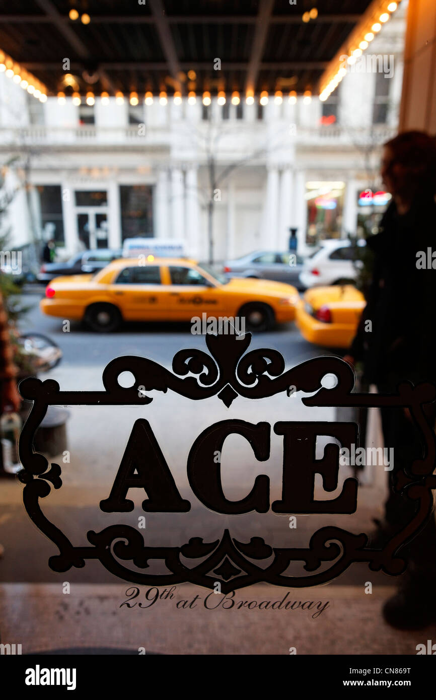 United States, New York City, Manhattan, Ace hotel, entrance, 20 West on 29th Street - Stock Image