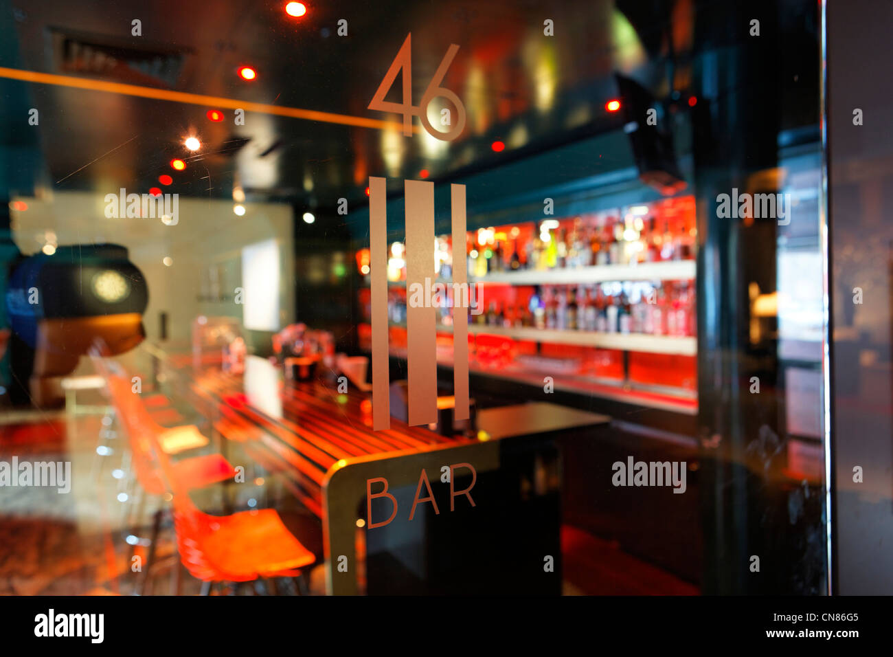 United States, New York City, Manhattan, Midtown, Times Square, Paramount hotel, bar 46, 235 West 46th street - Stock Image