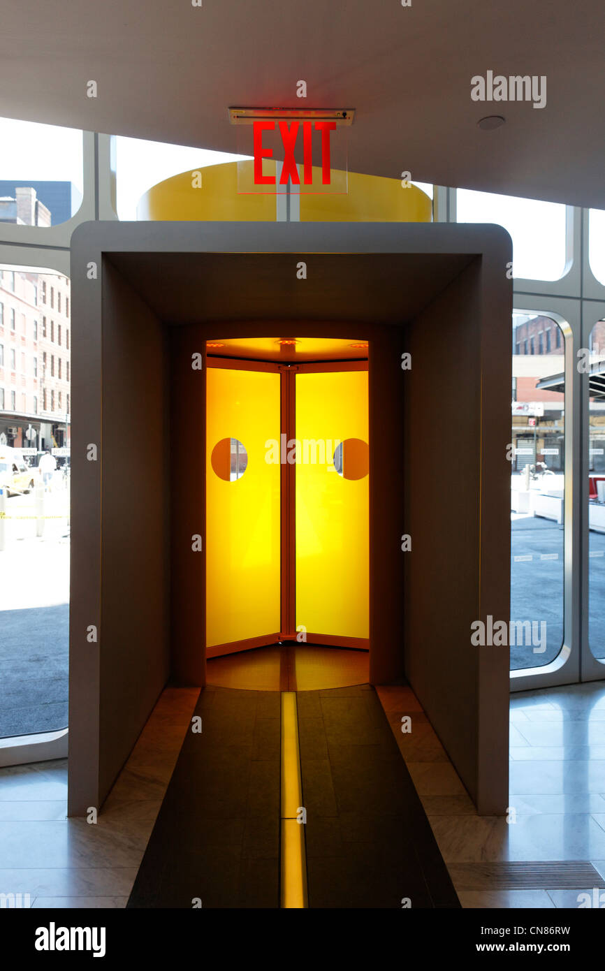 United States, New York City, Manhattan, Meatpacking District, Standard Hotel, exit, 848 Washington Street - Stock Image