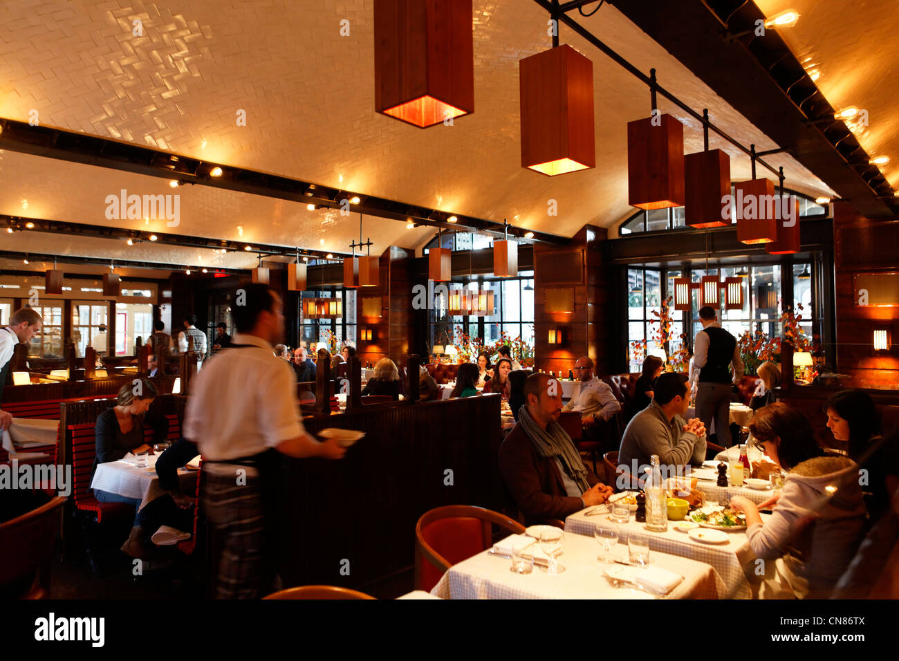 United States, New York City, Manhattan, Meatpacking District, Standard Hotel, room of The Standard Grill restaurant, - Stock Image