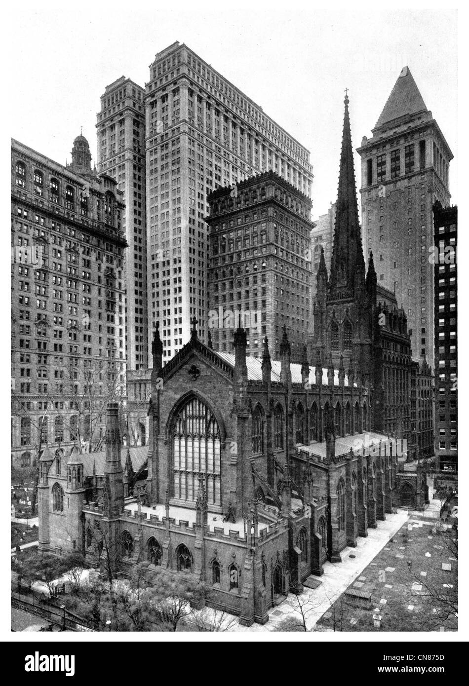 First published 1916 Trinity Church New York Wall Street - Stock Image