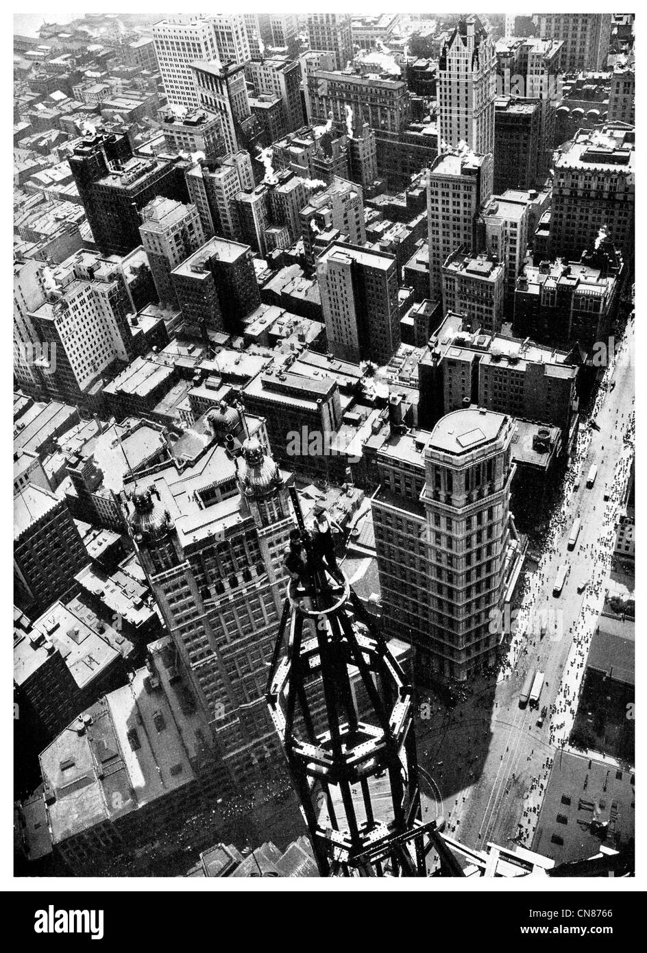 First published 1916 New York City Sky Scrapers - Stock Image