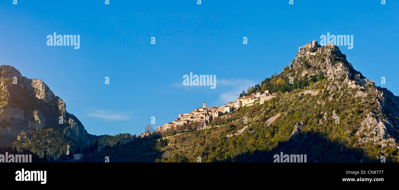 France, Alpes Maritimes, St Agnes, village in the sky, labelled Les Plus Beaux Villages de France ( the Most Beautiful - Stock Image