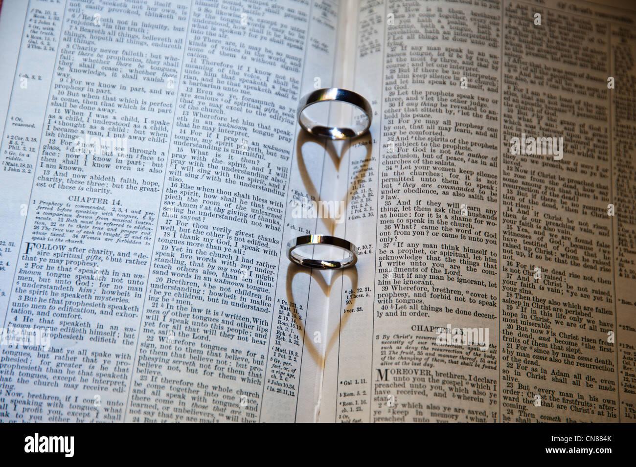 Wedding Rings Bible Stock Photos Wedding Rings Bible Stock Images
