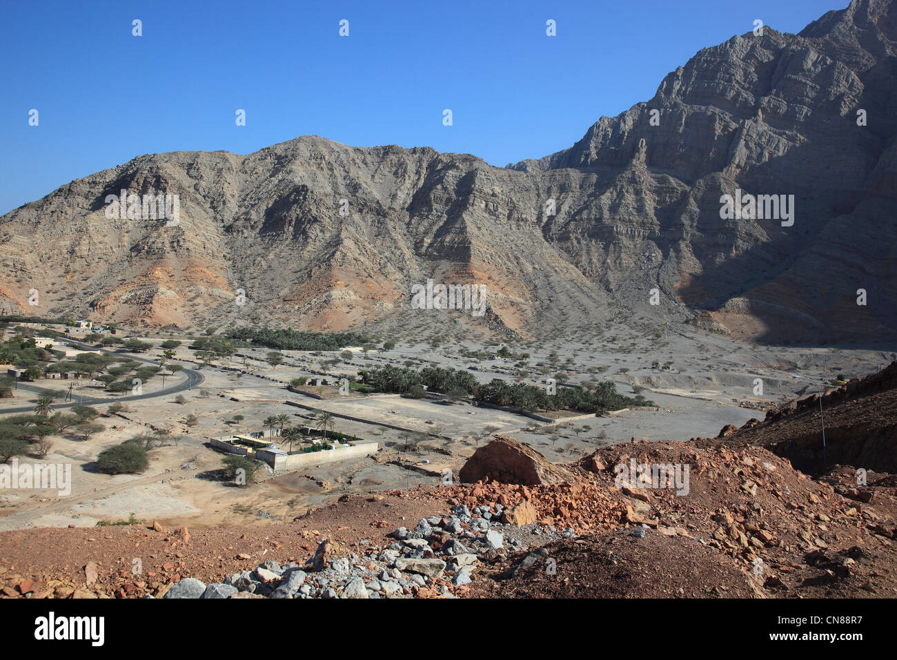 Bukha, in der omanischen Enklave Musandam, Oman Stock Photo