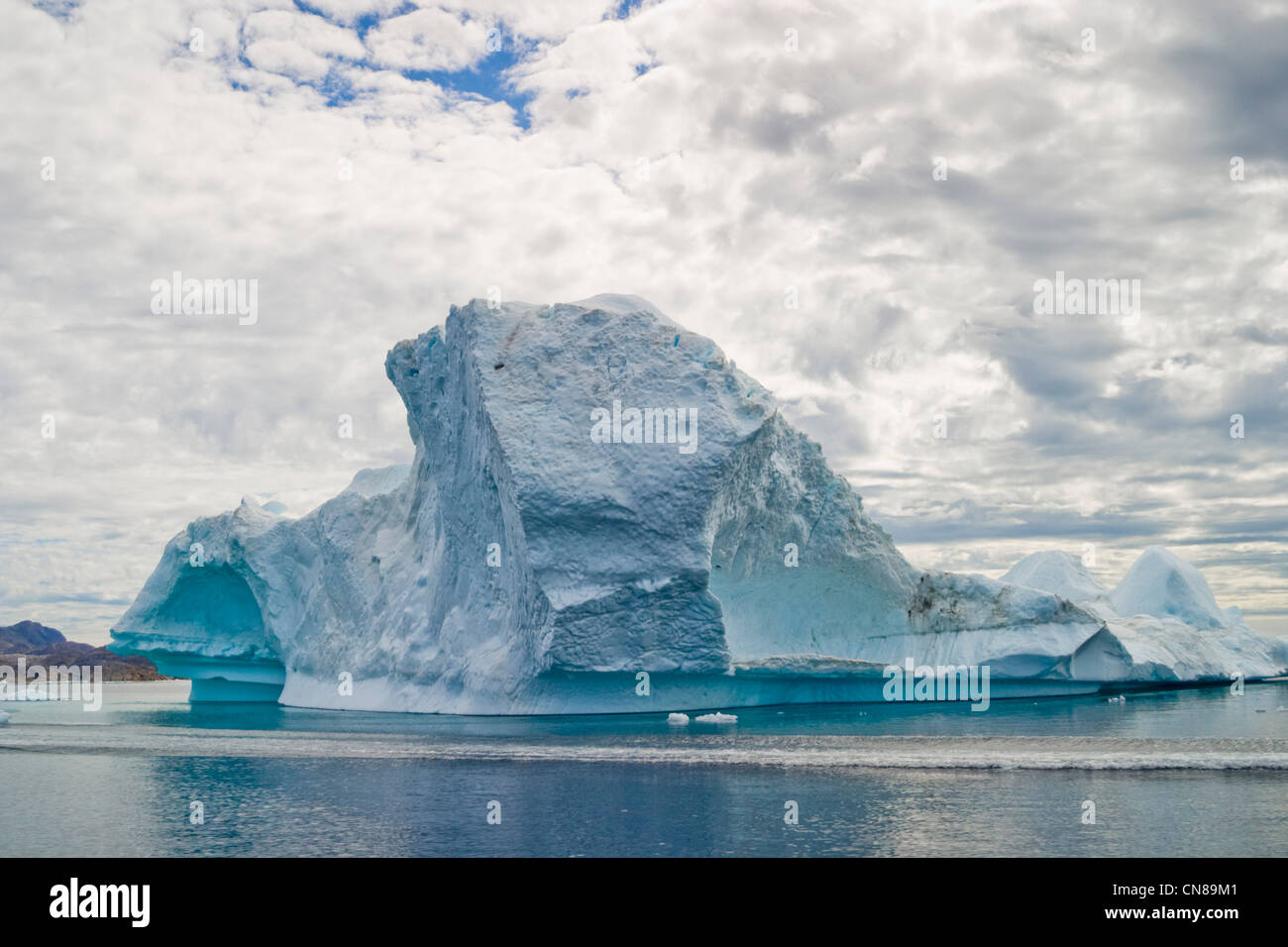 Iceberg, Greenland arctic coast - Stock Image