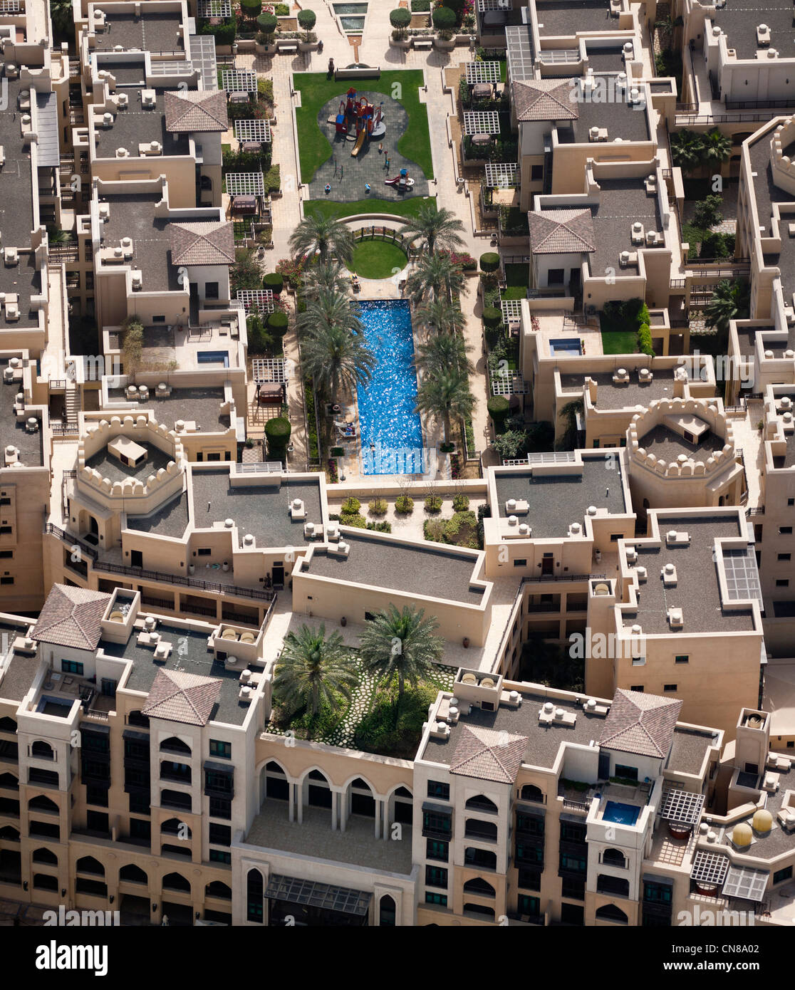The residential area of Downtown Dubai (The United Arab