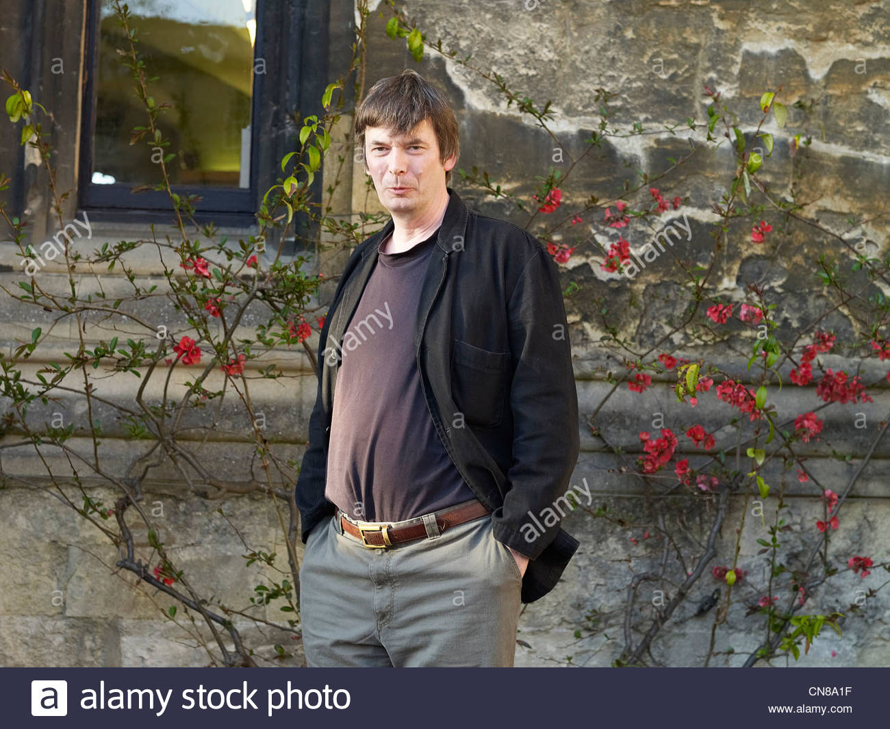 Ian Rankin, Scottish Crime writer at The Oxford Literary Festival at Christchurch College Oxford . Credit Geraint - Stock Image