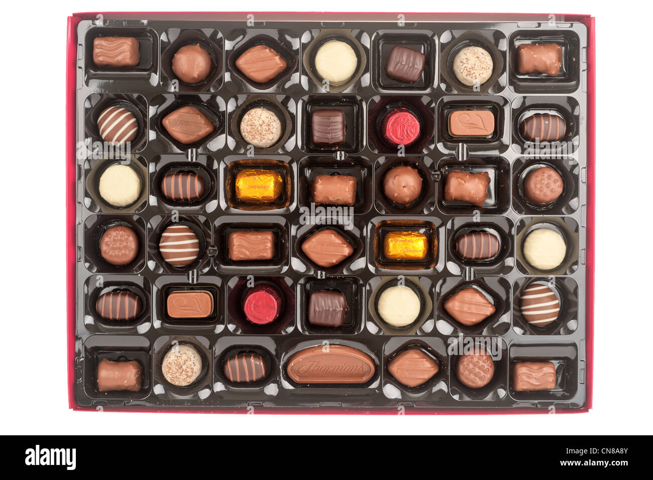 Large tray of Thorntons Classic chocolates - Stock Image