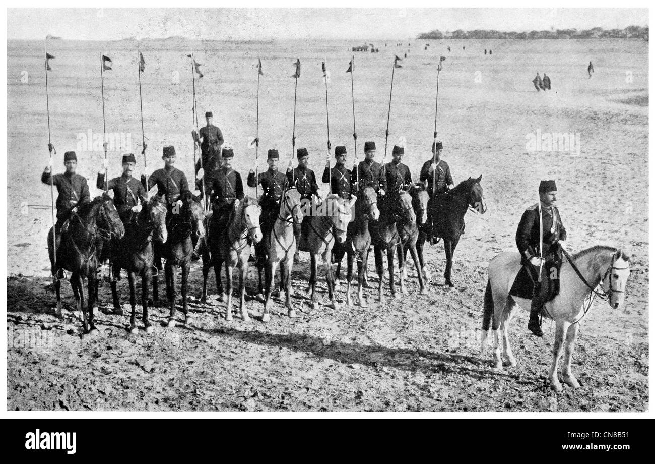 First published 1914   Crack Cavalry squad military army regiment Baghdad - Stock Image