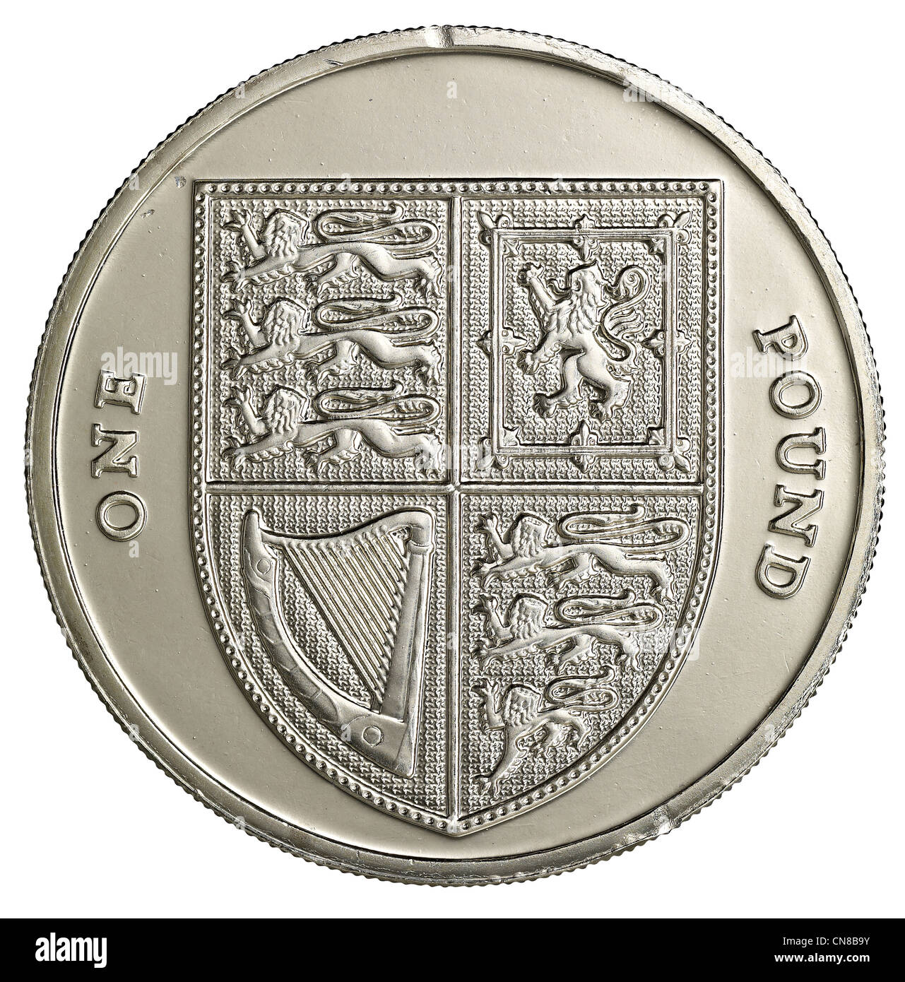 One Pound Coin On Edge Stock Photos Amp One Pound Coin On