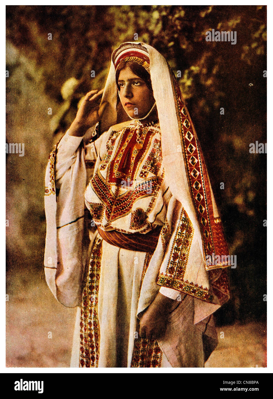 First published 1914  Palestine Bride - Stock Image