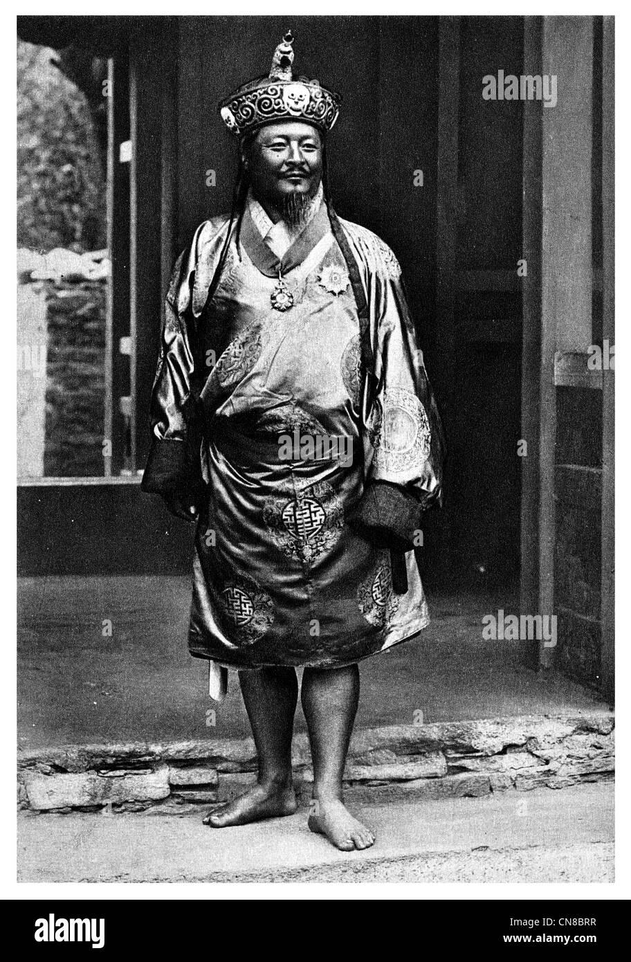 First published 1914 King of Bhutan Sir Gongsa Ugyen Wangchuck 1862–1926 first King of Bhutan - Stock Image