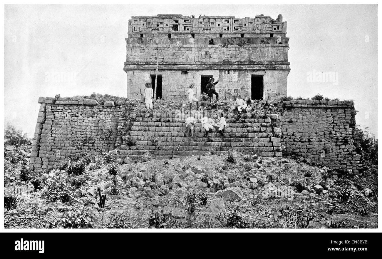 First published 1914 Prison  Chichen Chob Maya architecture Stock Photo