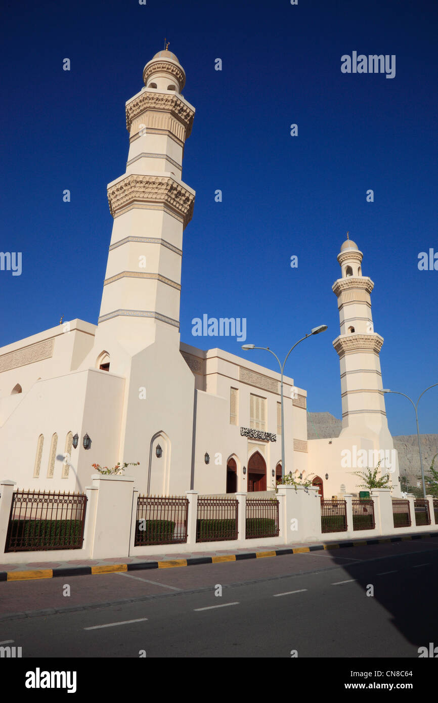 Freitagsmoschee von al-Chasab, Khasab, in der omanischen Enklave Musandam, Oman - Stock Image