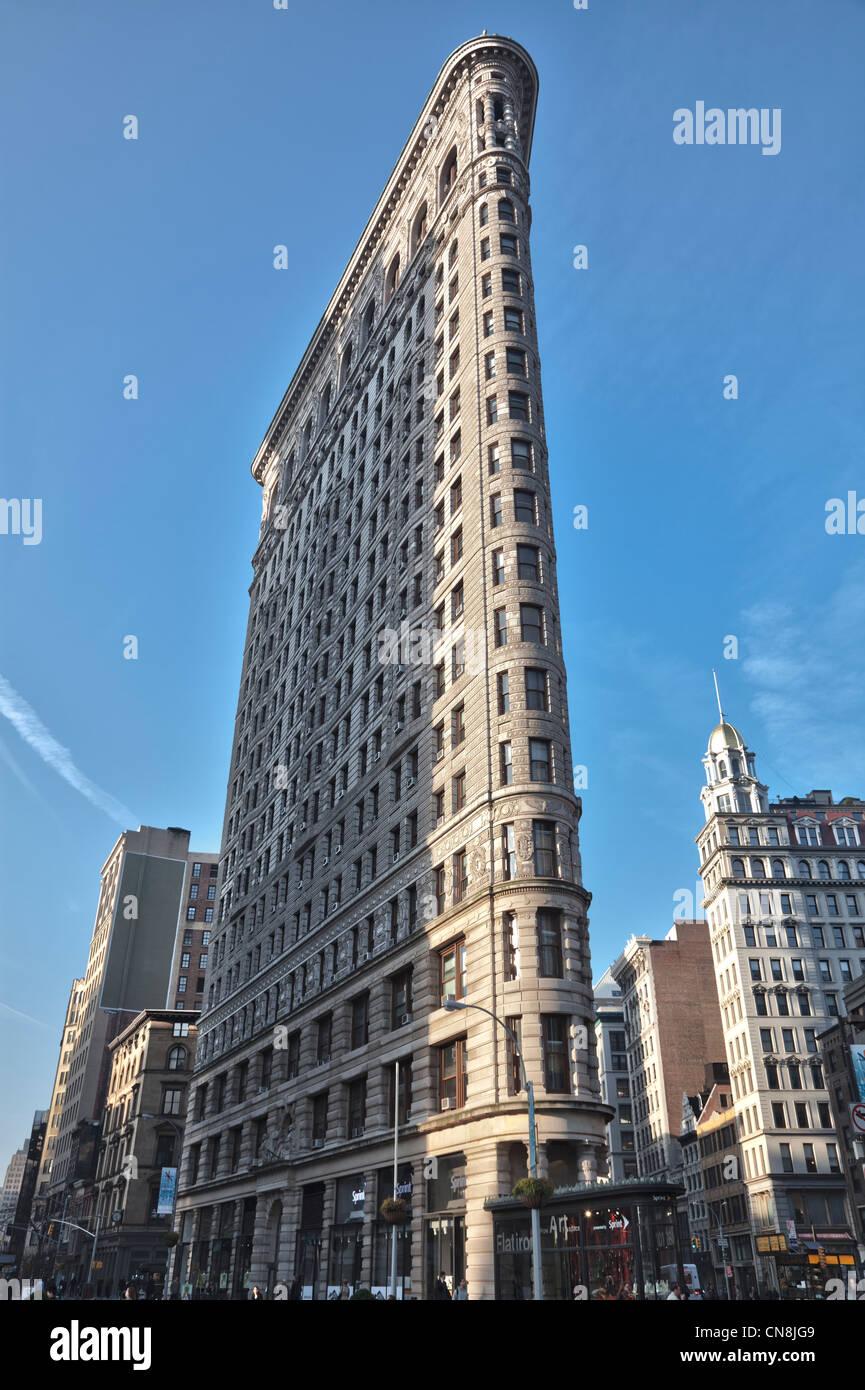 Flatiron building at 23rd Street in Manhattan, New York City - Stock Image