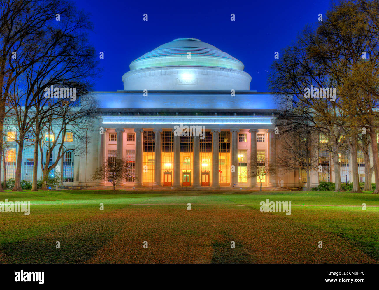 Great Dome of the Massachusetts Institute of Technology housing the Barker Engineering Library in Cambridge, MA. - Stock Image