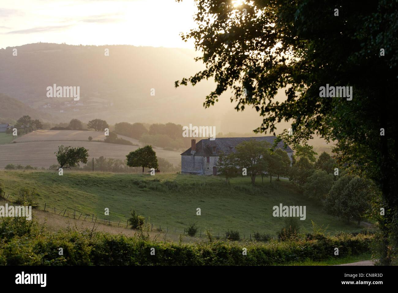 France, Correze, Turenne, labelled Les Plus Beaux Villages de France (The Most Beautiful Villages of France), landscape - Stock Image