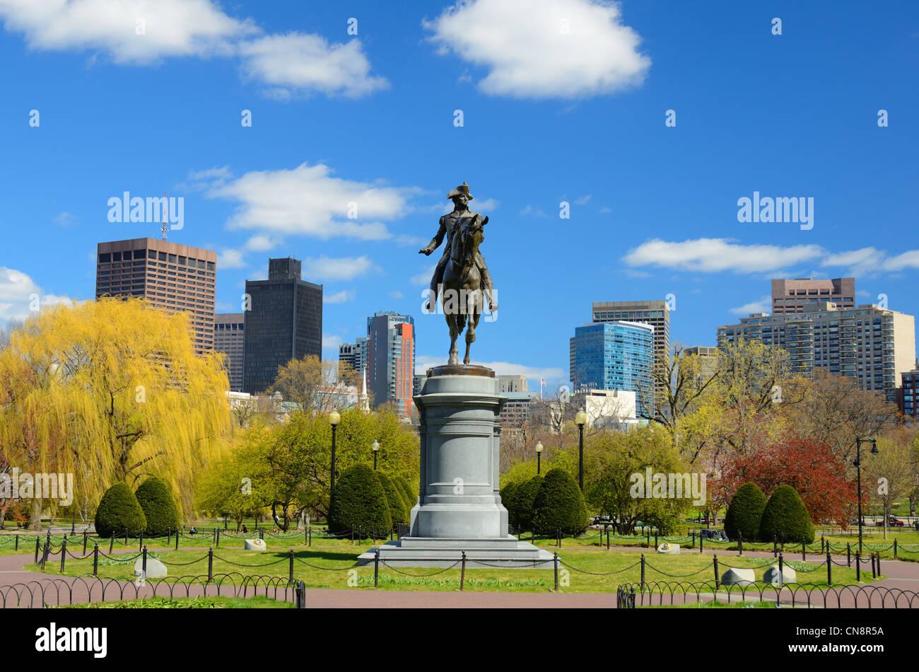 Boston Public Garden, Boston, Massachusetts, USA. - Stock Image