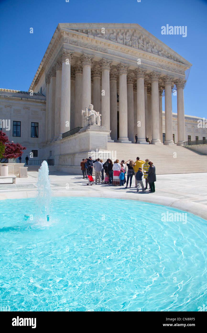 Supreme court building Washington DC exterior - Stock Image