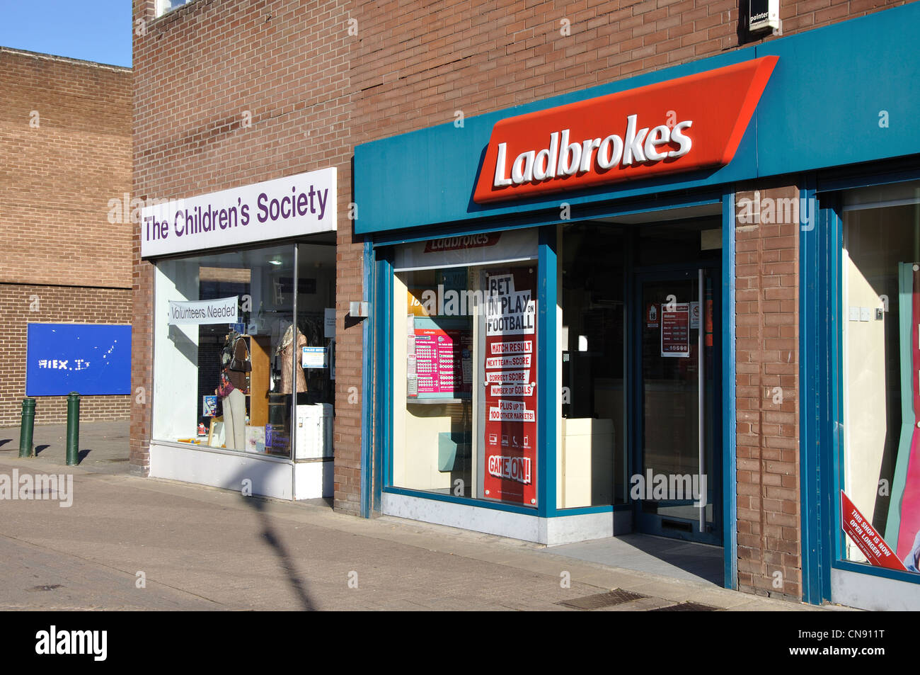 Ladbrokes, Middle Street, Consett, Co Durham, England, UK - Stock Image