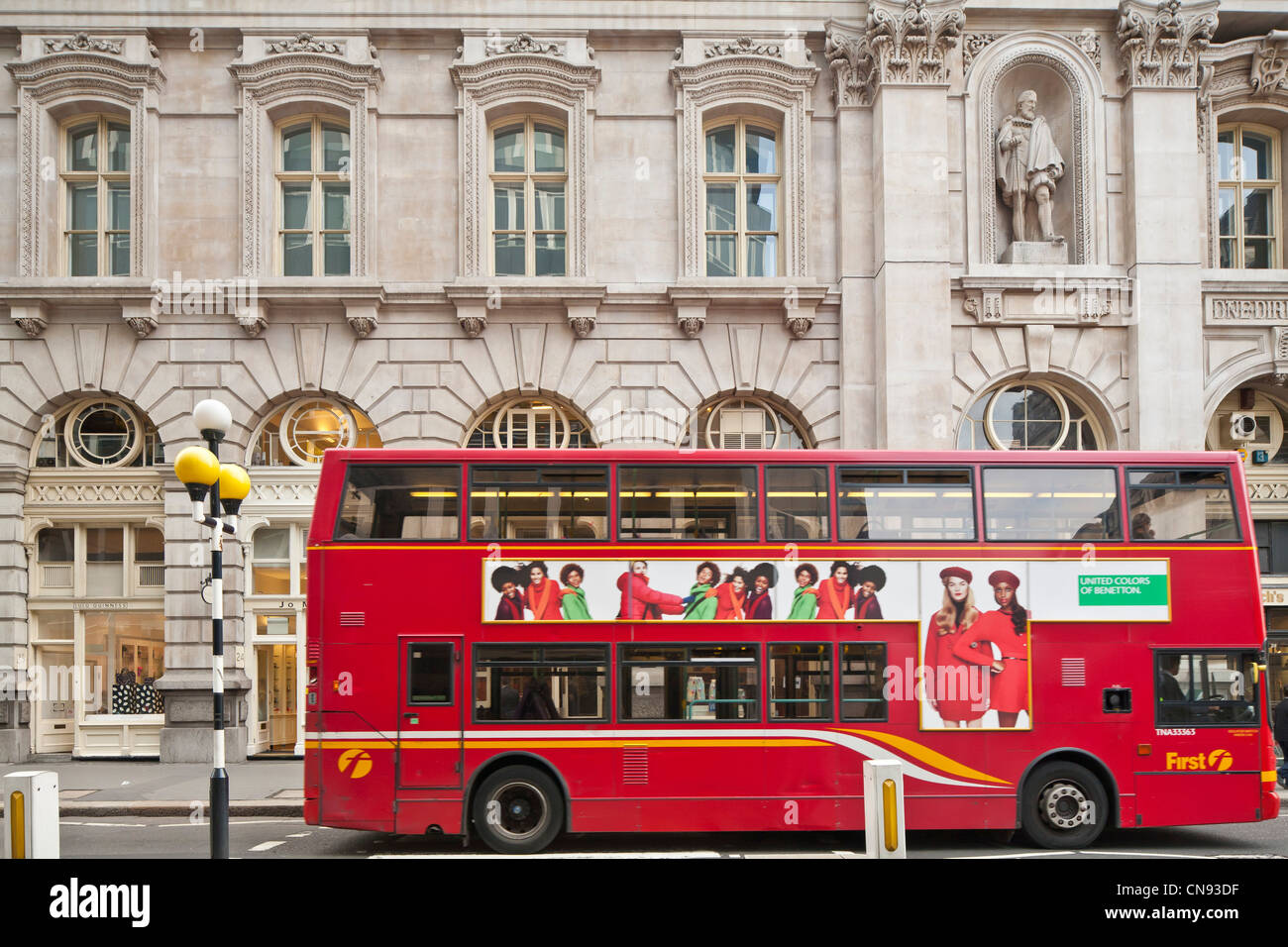 United Kingdom, London, City, Royal Exchange, former stock exchange, built by architect Sir William Tite, and inaugurated - Stock Image