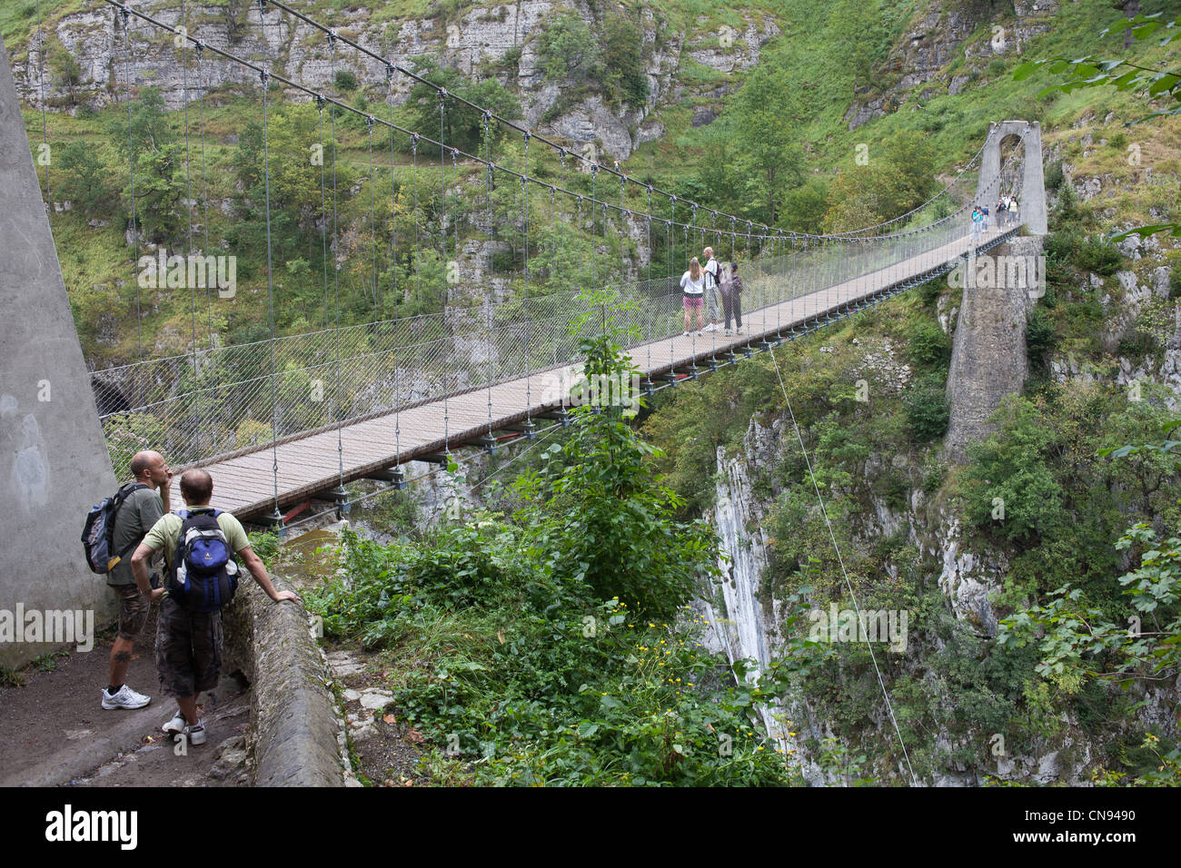 France Pyrenees Atlantiques Larrau Holzarte Footbridge