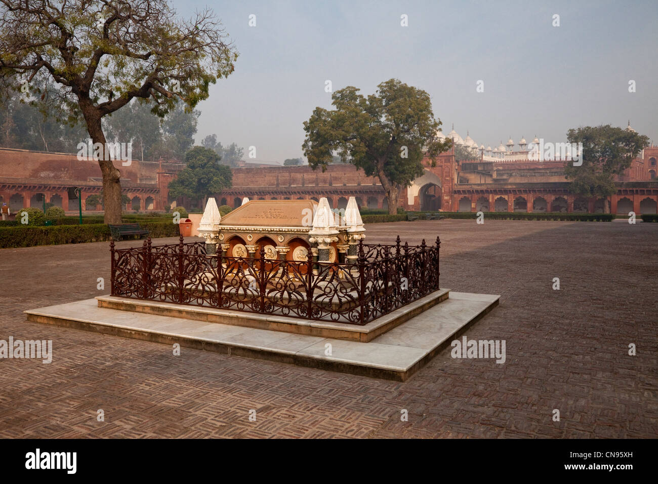 Agra, India. Agra Fort. Grave of John Russell Colvin, British lieutenant-governor of the Northwestern Provinces, - Stock Image