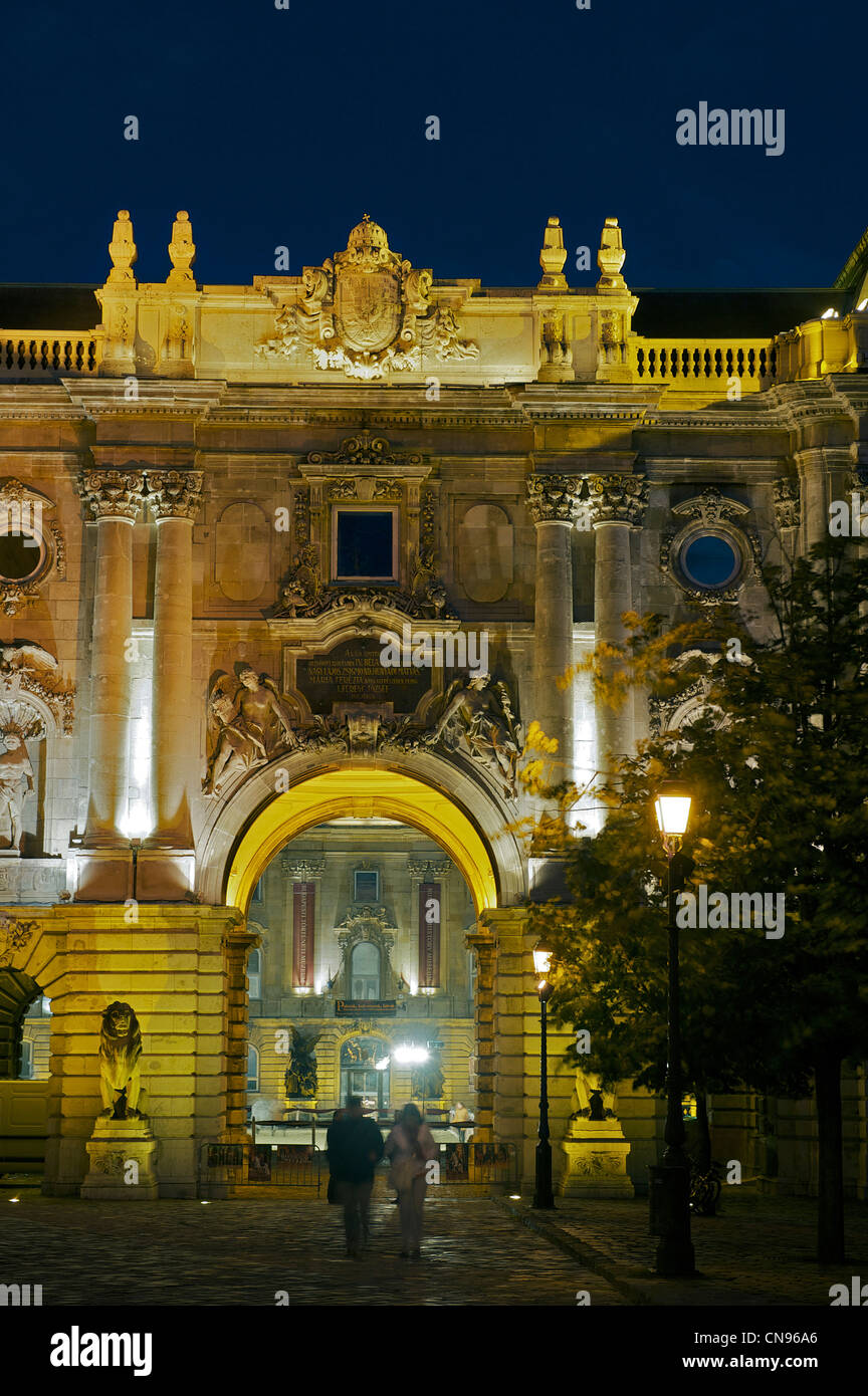 Hungary, Budapest, Buda, the Royal Palace on Castle Hill (or Buda hill) listed as World Heritage by UNESCO Stock Photo