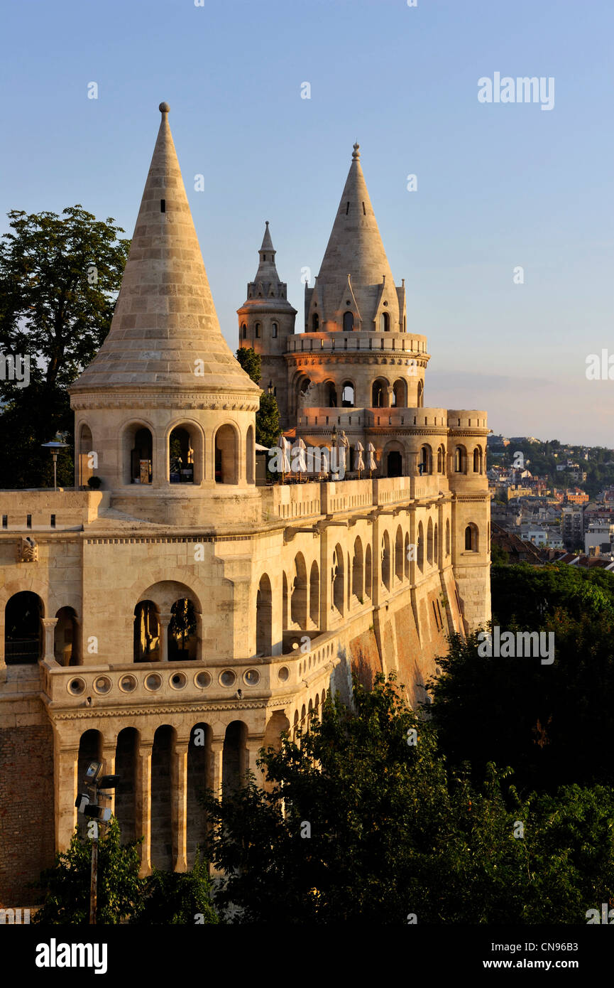 Hungary, Budapest, the historical Buda Castle district listed as World Heritage by UNESCO, Fisherman's Bastion, - Stock Image